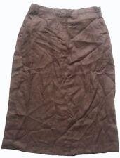 L.L. BEAN Damenrock aus 100% Leinen Gr. 42 Braun