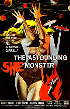SM02 VINTAGE THE ASTOUNDING SHE MONSTER MOVIE POSTER A4 PRINT