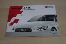 126003) Audi Q3 A4 A5 A6 A7 - S Line Selection - Prospekt 04/2013