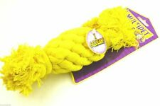MULTIPET ROPE DOG TOY WITH SQUEAL COLOR YELLOW MEDIUM SIZE PETS DOGS