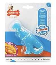 Nylabone Puppy Teething Dental Dino - Chicken Flavour Dog Chew