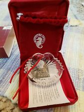 """NEW Waterford Crystal Ornament """"Our First Christmas 2000"""" Wedding Collection"""