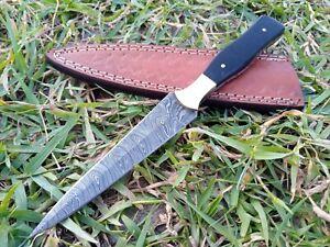 Hunting Nest!! Custom Handmade Damascus art double edge dagger boot knife 802