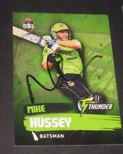 Mike Hussey (Australia) signed Sydney Thunder BBL Card + COA