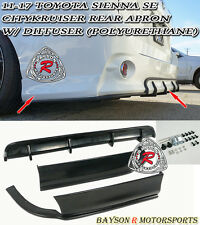 CityKruiser Rear Aprons + Diffuser (PU) Fit 11-17 Toyota Sienna  [SE Model Only]