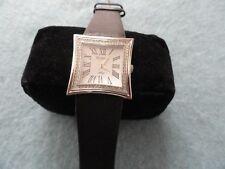 Ladies Armitron Now Quartz Watch with a Black Leather Band