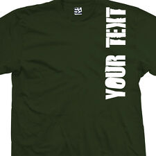 Custom Distressed Block VERT Shirt - Personalize Your Text - All Sizes & Colors