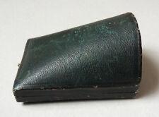 Ancien écrin boite pour broche + boucles d'oreille pendant 19e siècle sabot