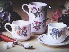 NEW Noritake GOURMET GARDEN Tea Cup & Saucers (Sets of 4) coffee - NEW IN BOX