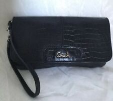 COACH Black Leather Wristlet/Clutch Bag / Handbag