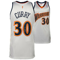 STEPHEN CURRY Autographed Warriors White Throwback Authentic M&N Jersey FANATICS
