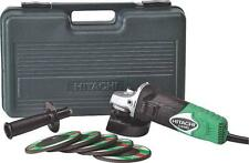 "NEW HITACHI G12SR4 /3 ELECTRIC ANGLE GRINDER 4 1/2"" 6 AMP KIT WITH CASE 8491300"