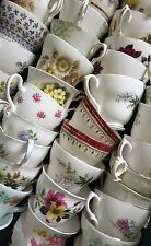 Job lot 10 Pretty Vintage China Tea Cups - Ideal for use at Weddings & Cafes