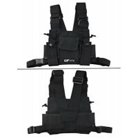CRT HT4 Radio Walkie Talkie Chest Pocket Harness Bags Pack Backpack Holster