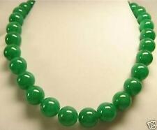 14mm vert jade ronde perles Collier , 45 cm