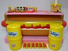 Barbie Mattel Hot Dog Stand & Replacement 58 Pcs 1987 Knott's Berry Farm Lays +