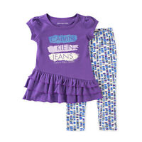 Calvin Klein Baby Girls 2-Piece Tunic Leggings Set Purple 12/18/24M #1884177
