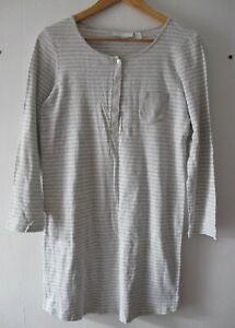 The White Company M&S Women's Striped Long Sleeve Night Dress Nightie Bundle M