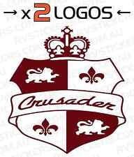 2x REGENT CRUSADER SHIELD vintage, retro Caravan decal, sticker