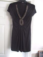 Debenhams Star by Julienne Macdonald Size 12 black beaded short dress/long top