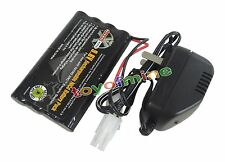 1x Ni-cd 9.6v 2400mAh Rechargeable Battery + Main Charger Tamiya Connector USA