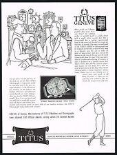 1950's Vintage 1952 Solvil / Titus Geneva Geneve Chronograph Watch Art Print AD