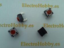 20x Pulsador Rojo 6x6x5 mm PCB, Switch, mini, Push touch, micro, 4 pin, arduino