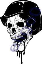 Skull Sticker Blood Mouth for Motorcycle Bumper Guitar Car Bike Skateboard #21