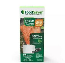 New listing FoodSaver 28 Vacuum-Seal Bags - Gallon Size Fsfsbf0326-Np