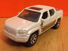 Matchbox - New Loose White Honda Ridgeline W/ Hitch For Pulling 1:64 Die Cast