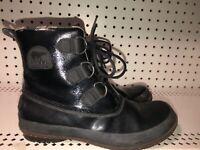 Sorel Joplin Womens Winter Snow Duck Rain Boots Size 7.5 Black