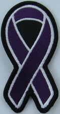 Dark Purple Alzheimer's disease patch, AWARENESS RIBBON PATCHES, BIKER PATCHES