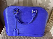 Louis Vuitton Alma Epi PM Figue Purple LV Handbag 100% Authentic Brand New