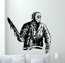 Jason Voorhees Wall Decal Horror Movies Vinyl Sticker Film Art Decor Mural 87zzz