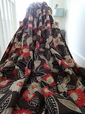 "HARLEQUIN CURTAINS ""HASINA"" contemporary DRAMATIC FLORALS interlined HUGE *RARE*"