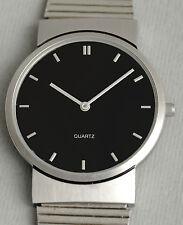 Minimal design VOESTALPINE C/PR Armbanduhr Uhr. Stainless steel watch black dial