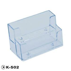 Plastic Clear Desktop Business Card Holder Stand Display Office Dispenser s R2X3