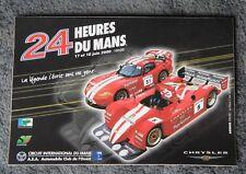24 HEURES DU MANS 2000 CHRYSLER DODGE VIPER GTS Le Mans MOPAR Decal/Sticker