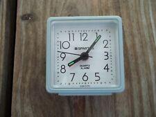 Vintage Spartus Mini Quartz Alarm Clock Blue Green 2-1/4 inch Travel Battery