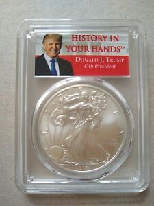 2017 Silver $1 Eagle Donald Trump First Strike (MS 69) PCGS