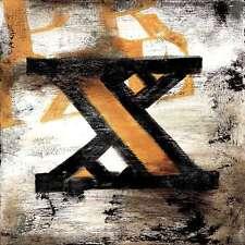 "36""x36"" X by RODNEY WHITE LETTER ALPHABET GICLEE CANVAS"