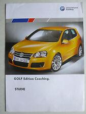 Prospekt Volkswagen VW Golf V STUDIE Edition Coaching, ca.2000, 2 Seiten