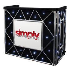 Equinox Truss Booth Starcloth White LED Curtain DJ Disco Setup