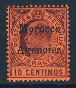 MOROCCO AGENCIES KE VII 1905 10c Purple/Red MCCA Gibraltar Issue Optd SG 25 MINT