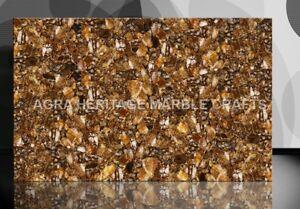 4'x2' Marble Dining Table Top Chocolate Quartz Backlit Art Hallway Decor E206