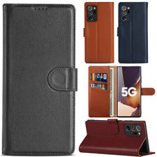 Genuine Leather Wallet Card Slot Case Cover For Samsung Galaxy Note 20/20 Ultra