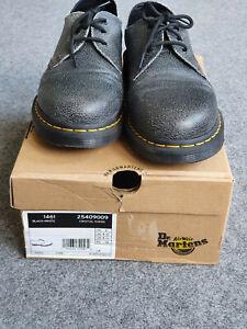Dr. Martens DOCS 1461 Schuhe Crystal Suede (schwarz/grau) Größe 43 ...selten!