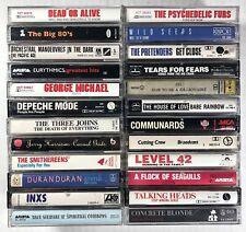 24x NEW WAVE Cassette Tape Lot: RARE Talking Heads Depeche Mode Eurythmics Tears