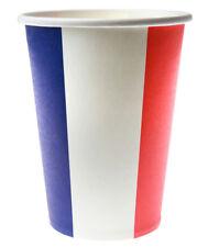 Länderdekoration Frankreich Pappbecher Party Becher Tisch Deko Einweg Geschirr