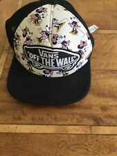 Vans off the Wall Disney Minnie Mouse Casquillo del camionero Snap Back Ajustable Negro